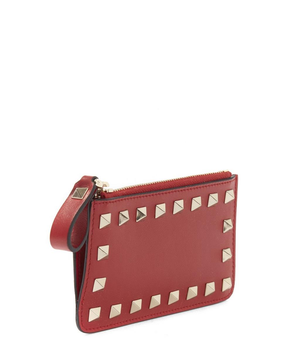 Leather Rockstud Coin Pouch
