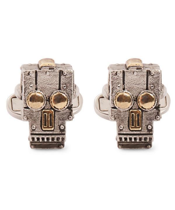 Robot Skull Cufflink