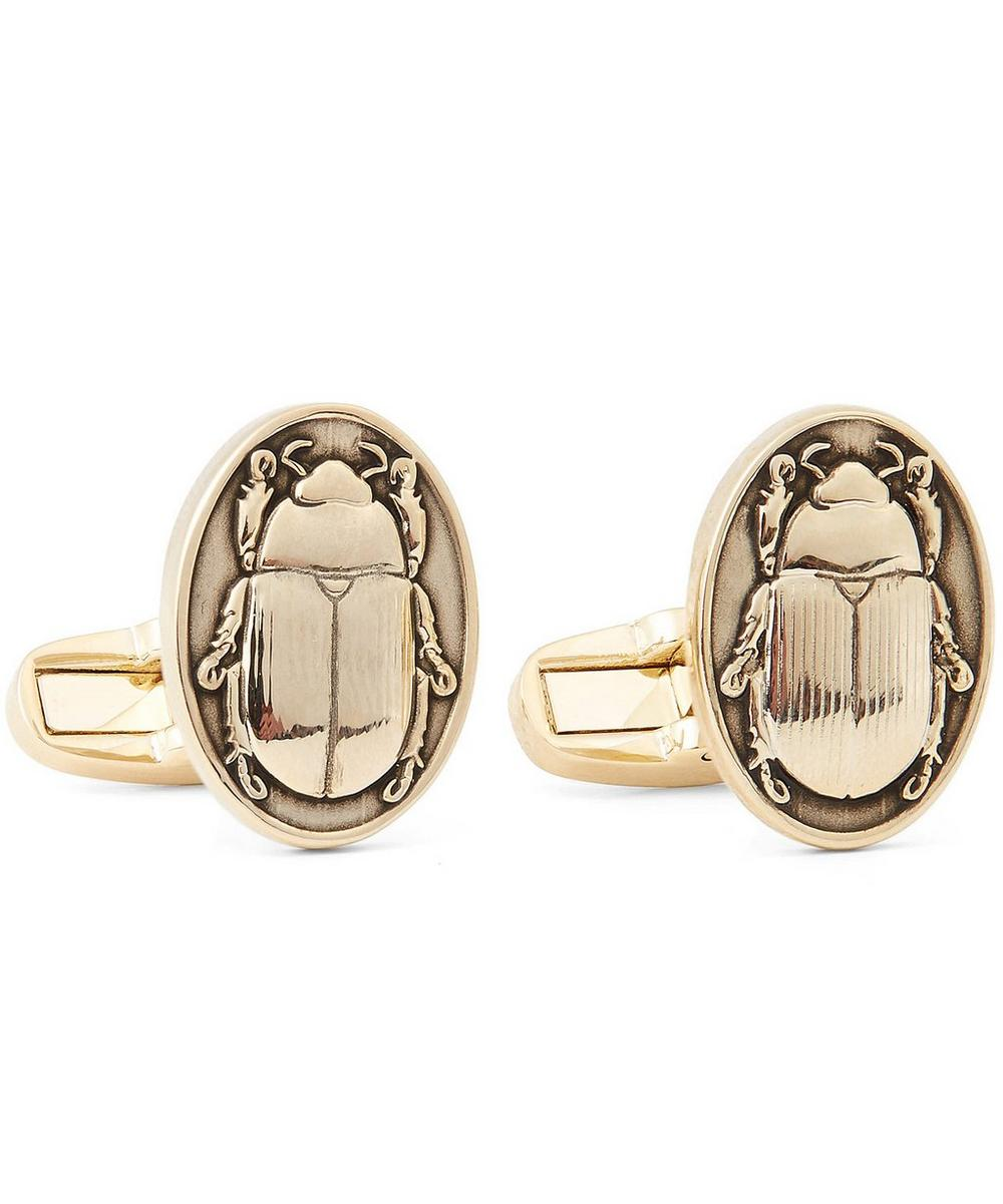 Gold-Tone Beetle Cufflinks