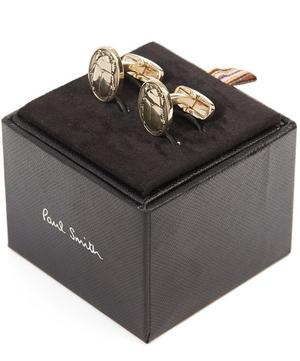 Gold-Tone Beetle Cufflinks