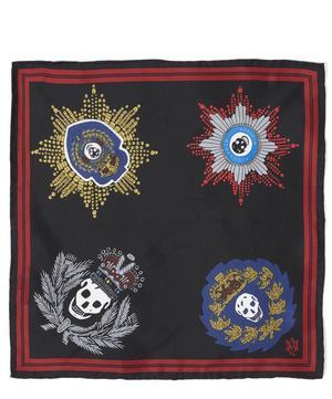Military Skull Badges Pocket Square