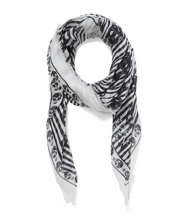 Warped Striped Skull Scarf