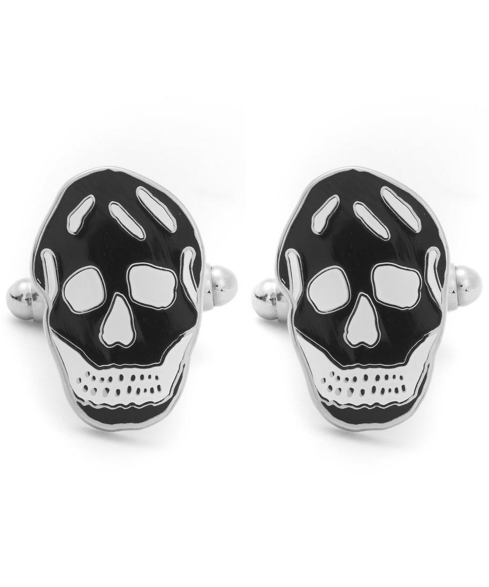Enamel Skull Face Cufflinks