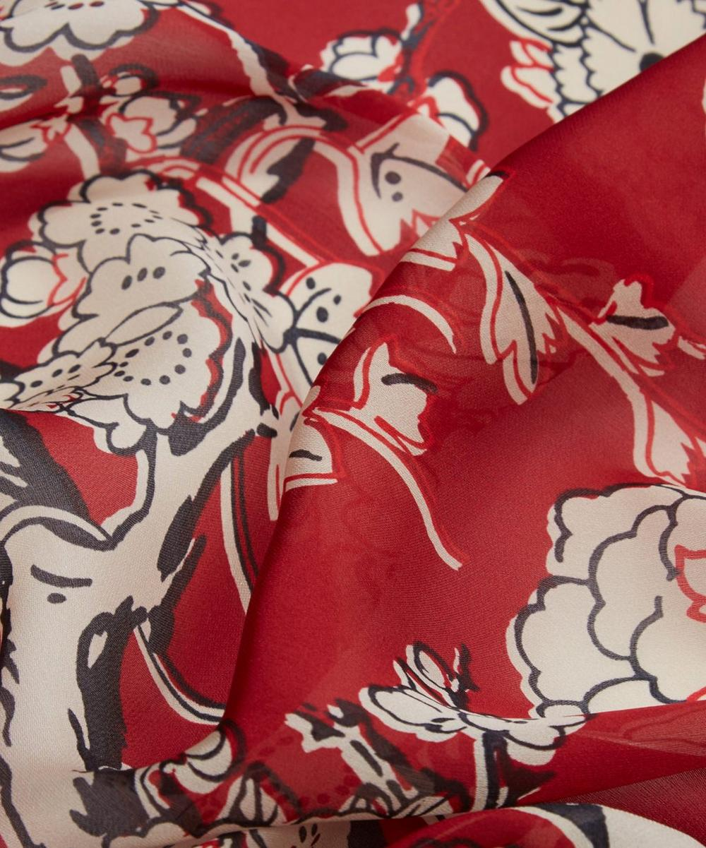Enchanted Tree Silk Chiffon Scarf
