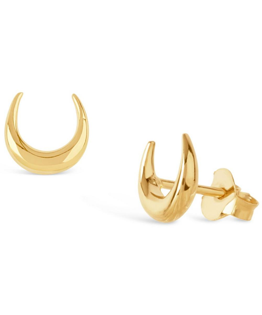 Gold-Plated Toro Stud Earrings