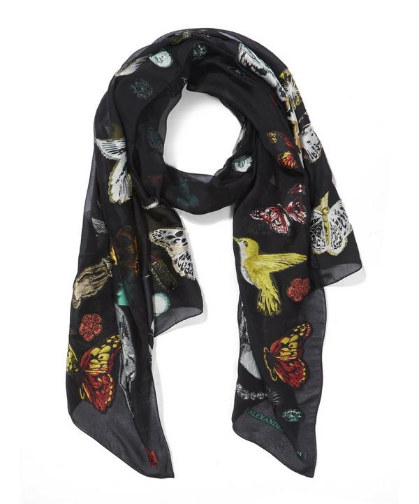 Night Leopard Filcoupe Printed Scarf