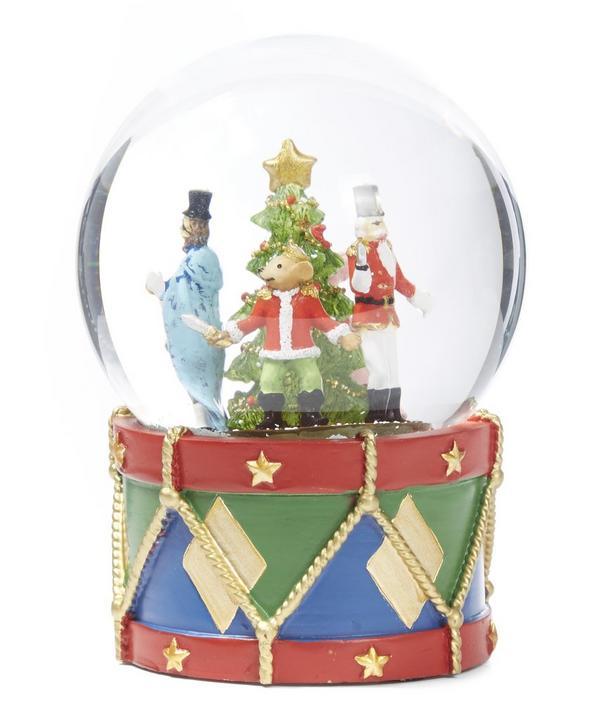 Nutcracker Glass Snow Globe