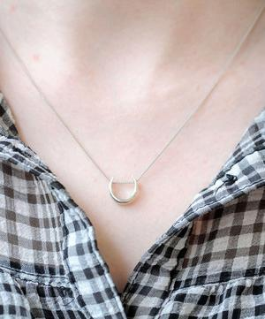 Silver Toro Slider Pendant Necklace