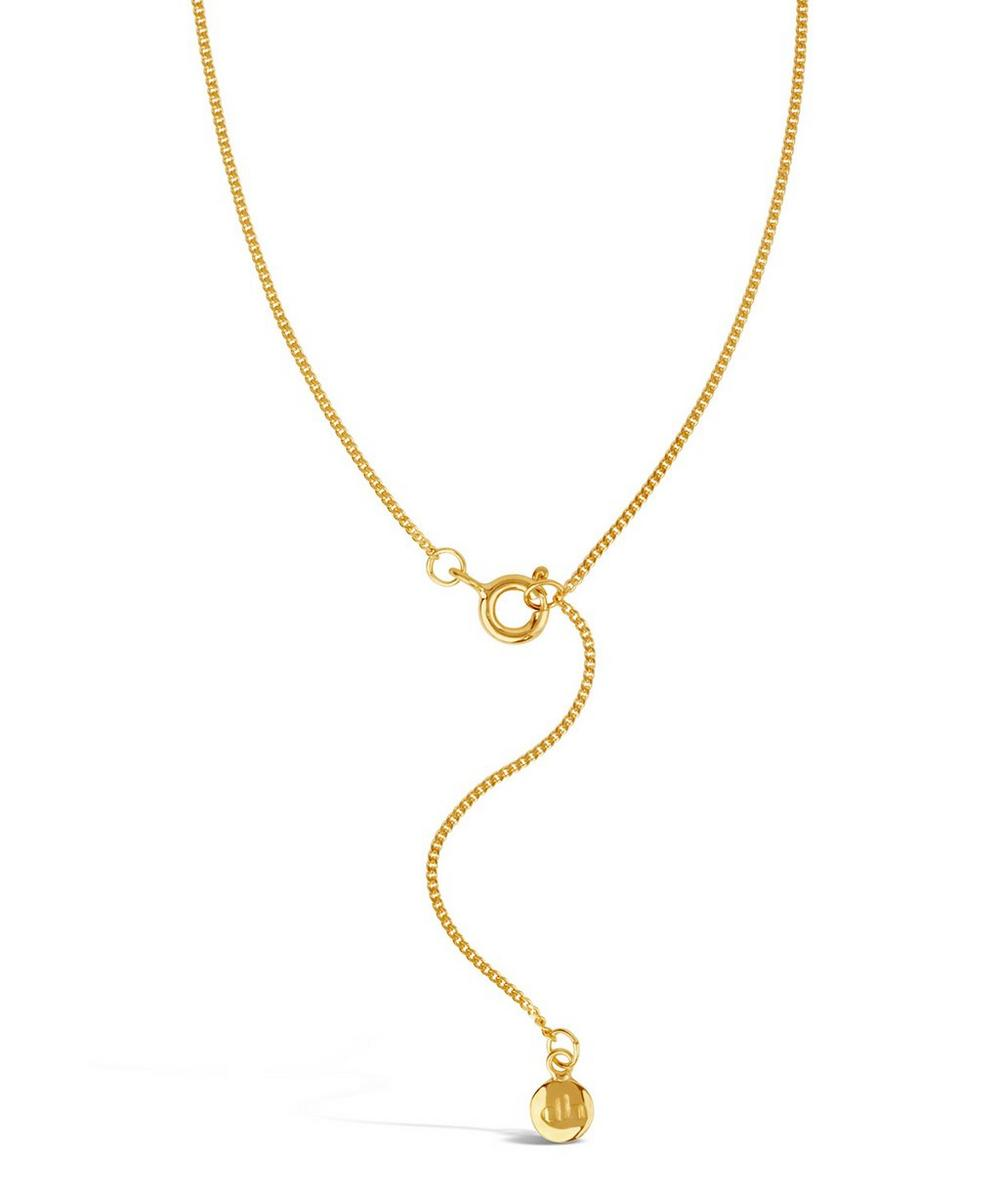 Gold-Plated Signature Halo Pendant Necklace