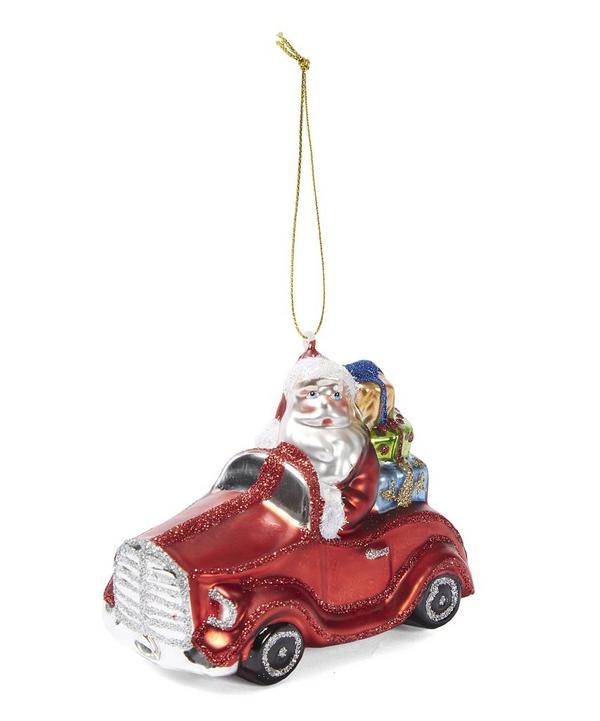 Santa In A Car Decoration