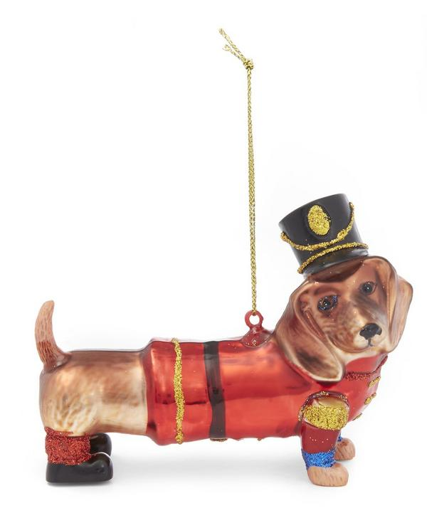 Dachshund Soldier Decoration