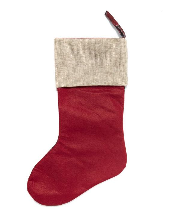 Tartan Reindeer Stocking