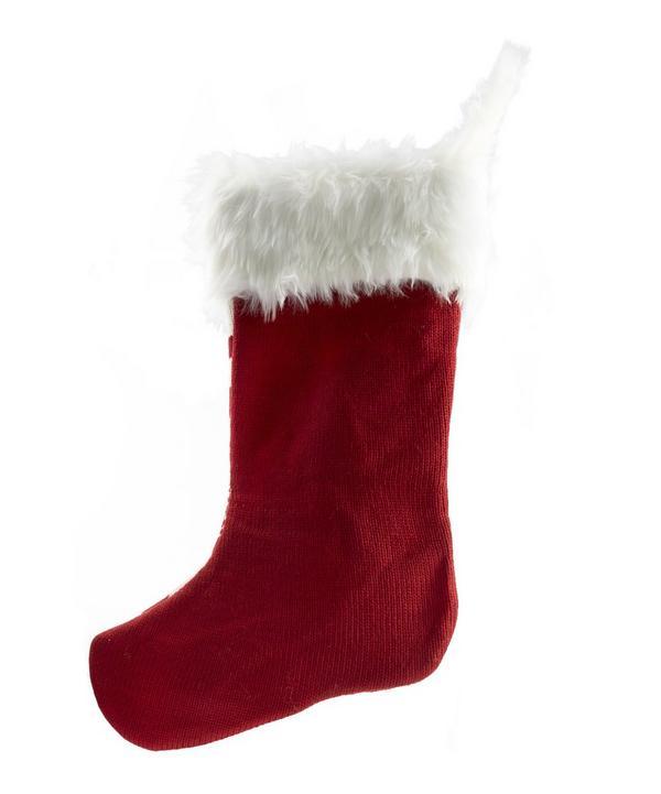 Christmas Fairisle Knitted Scandinavian Stocking