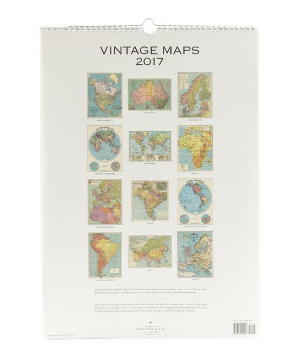 Vintage Maps 2017 Wall Calendar