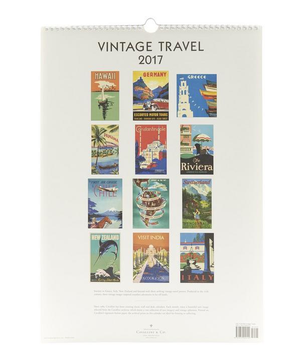 Vintage Travel 2017 Wall Calendar