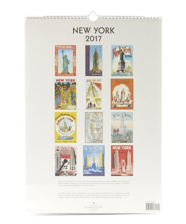 New York 2017 Wall Calendar