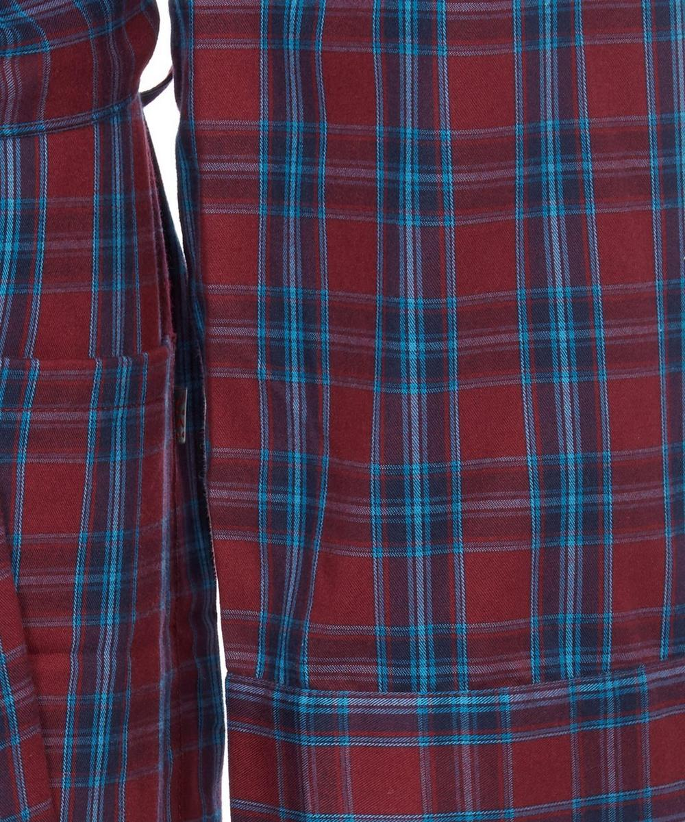 Nelson Check Brushed Cotton Robe