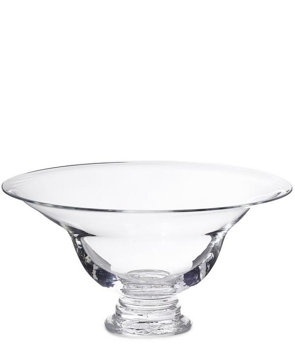 Large Clear Footed Bowl