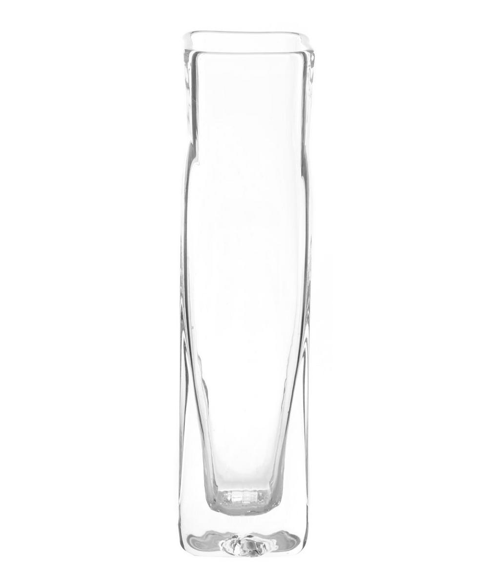 Medium Clear Square Vase