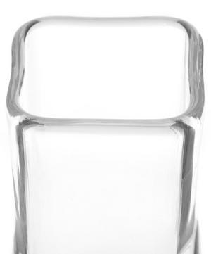 Medium Clear Square Vase
