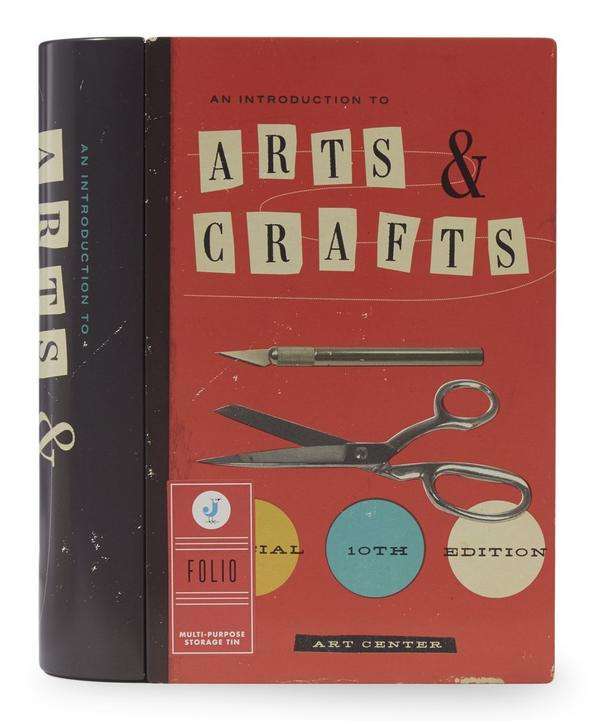 Folio Arts and Crafts Book Storage Tin