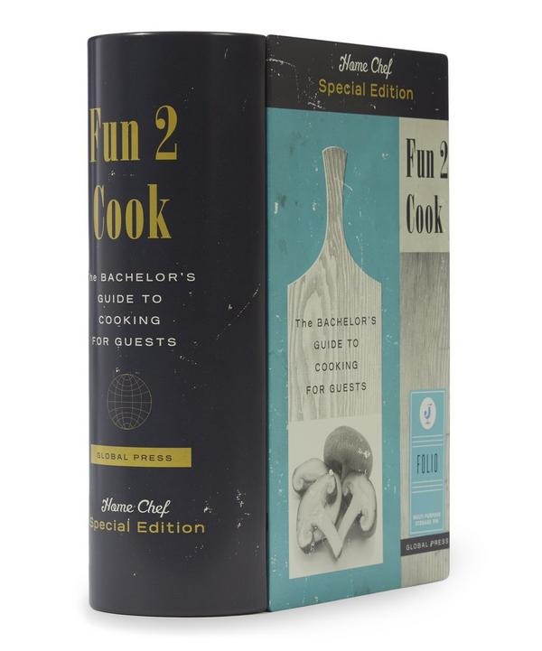 Folio Cookery Book Storage Tin