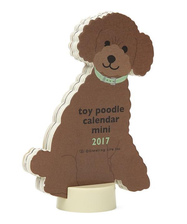 Toy Poodle 2017 Miniature Standing Calendar