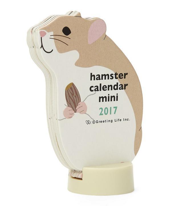 Hamster 2017 Miniature Standing Calendar