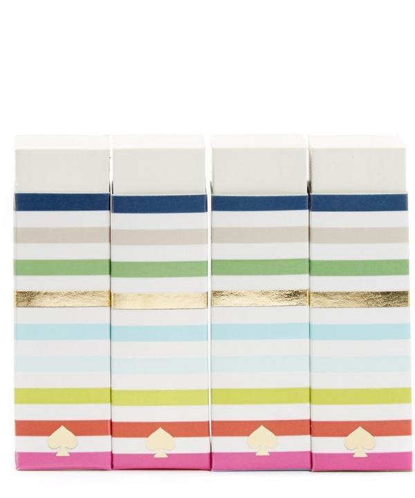 Kate Spade Candy Stripe Eraser Set