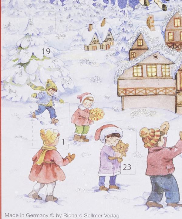 Santa Sleigh Advent Calender