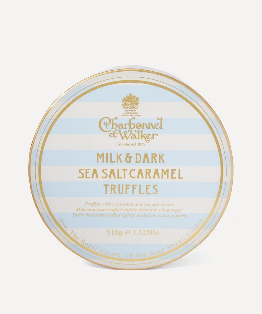 Milk and Dark Sea Salt Caramel Truffles Large Collection