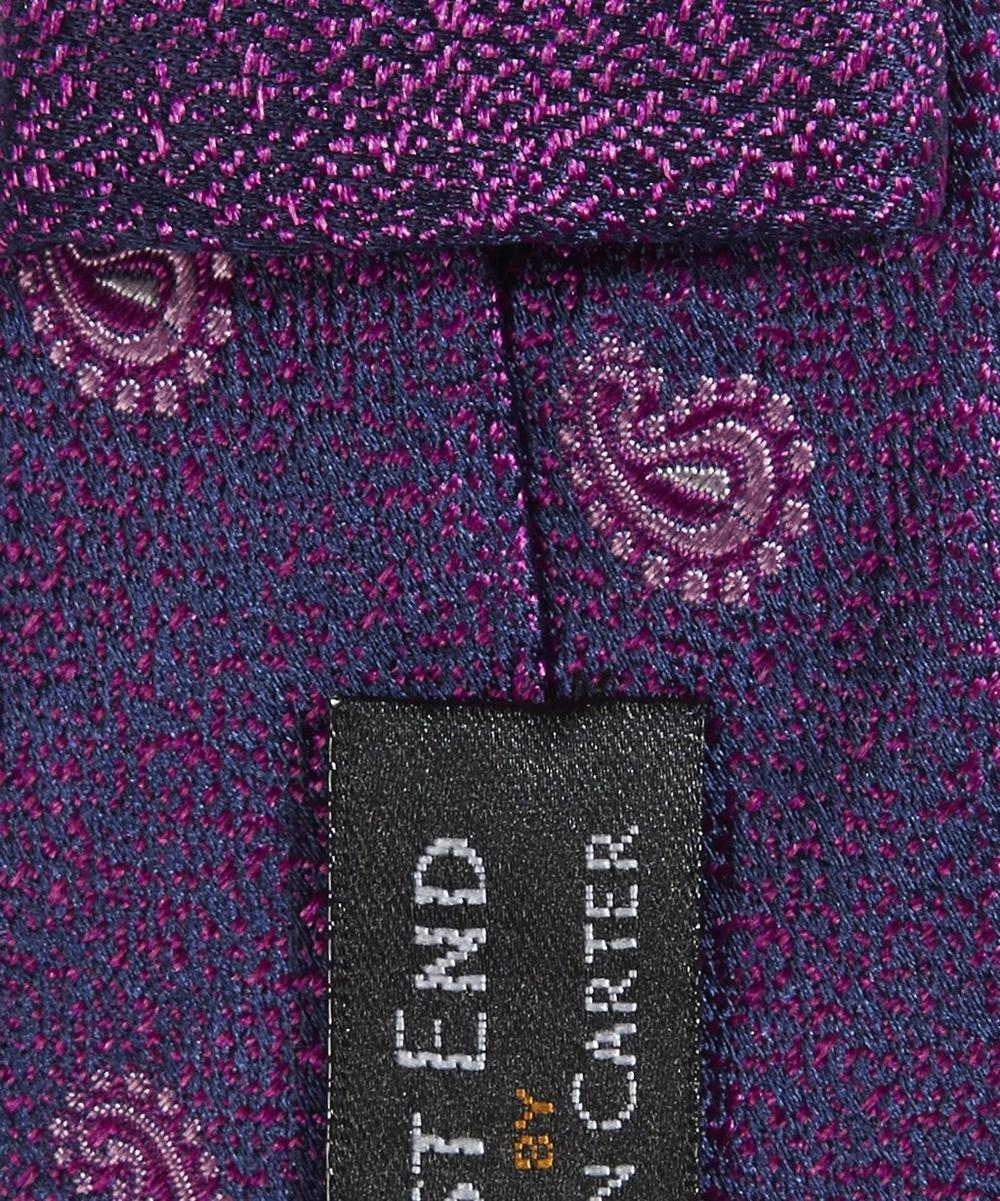 Comma Paisley Patterned Tie