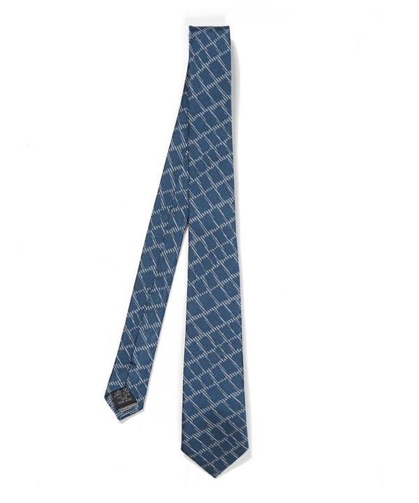 Croc Skin Patterned Tie