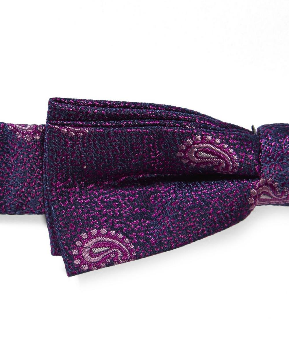 Comma Paisley Patterned Bow Tie