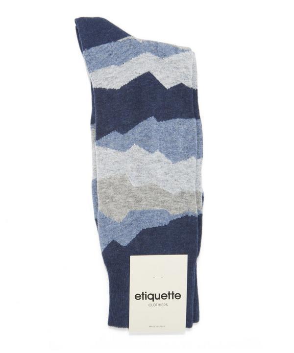 Seismic Patterned Socks