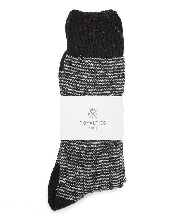 Ribbed and Stripped Worker Socks