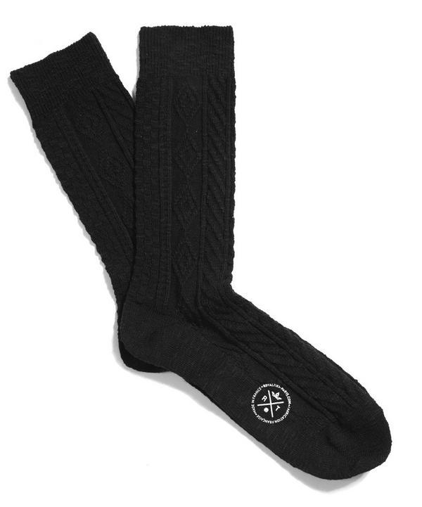 Kirk Aran Stitch Socks