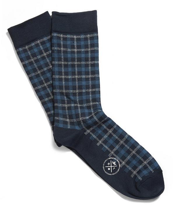 Greg Checked Socks