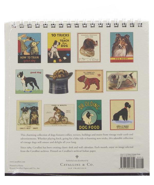 Vintage Dogs 2017 Desk Calendar