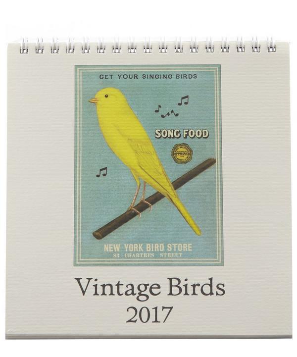 Vintage Birds 2017 Desk Calendar