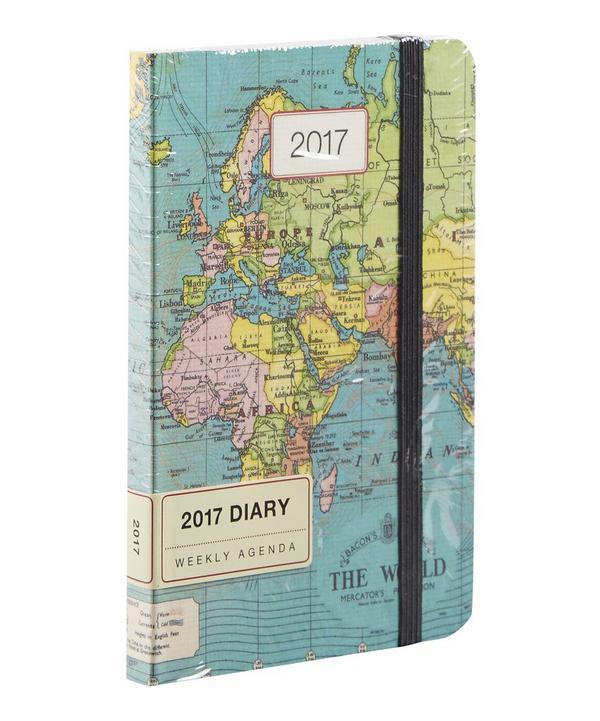 Cavallini Vintage Maps 2017 Weekly Planner