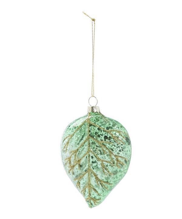 Speckled Leaf Hanging Tree Decoration