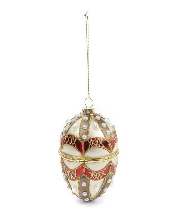 Embellished Opening Egg Decoration