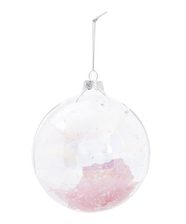 Glass Petal Bauble
