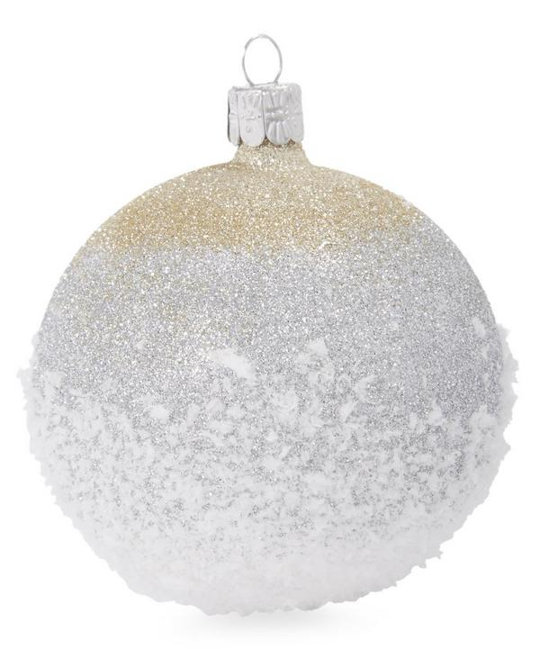Graduated Glitter Snow Tipped Bauble