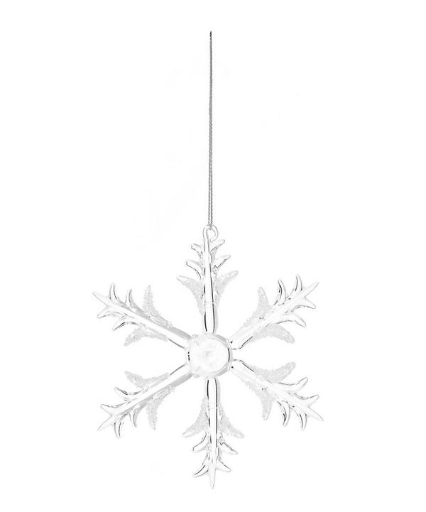 Frosted Glass Snowflake Decoration