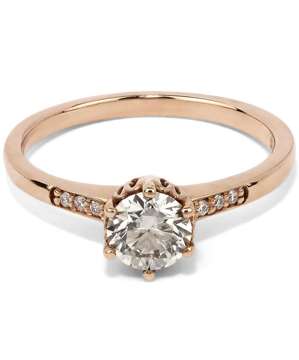 Gold Hazeline Solitaire Ring
