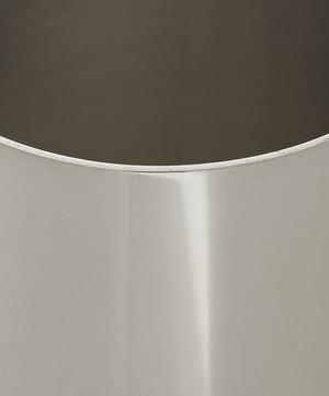 Silver-Tone Groove Vase
