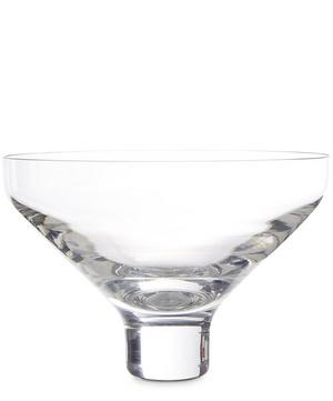Set of Two Sheer Crystal Conical Tumblers