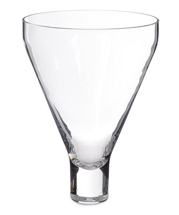 Sheer Crystal Conical Vase
